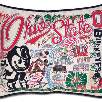 THE OHIO STATE EMBROIDERED PILLOW