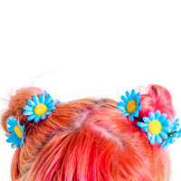 Blue Daisy Hair Band Set