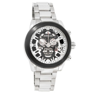 Invicta 18866 Men's Corduba Skull Skeleton Dial Steel Bracelet Chronograph Watch