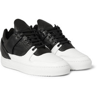 Filling Pieces - Two-Tone Leather Sneakers | MR PORTER