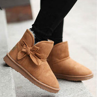 YESSTYLE: Smoothie- Bow-Accent Snow Boots - Free International Shipping on orders over $150