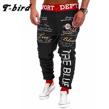 T-Bird New Arrived 2017 Brand Casual Joggers Bordado Compression Pants Men Cotton Trousers Calabasas Cargo Pants Mens Sweatpants