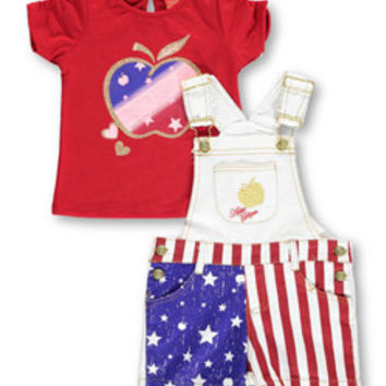 Apple Bottoms Baby GirlsAmerican Apple 2-Piece Outfit-apb02352
