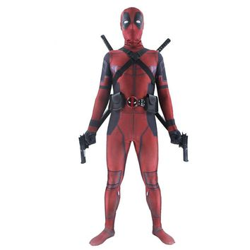 Deadpool Dead pool Taco Ainiel  Cosplay Costume   Jumpsuit Adult Wade Wilson Spandex Lycra  Zentai Bodysuit For man and Woman AT_70_6