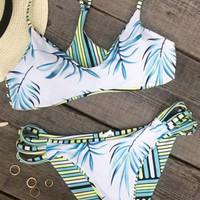 Cupshe Breezy Does It Strappy Bikini Set