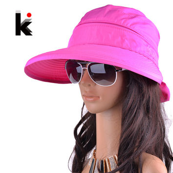 women chapeu feminino new fashion visors cap sun anti-uv hat 8 colors