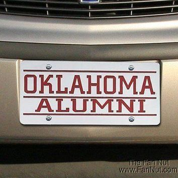 Oklahoma Sooners ALUMNI Deluxe Laser Cut Acrylic License Plate Tag University of