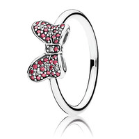 Minnie Mouse Sparkling Bow Ring by PANDORA | Disney Store