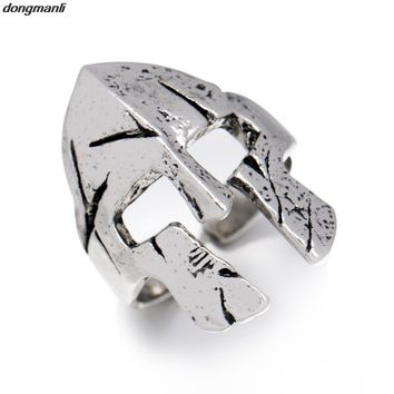P211 dsongmanli lol cosplay Pantheon Spartan Helmet Mask Rings For Men New Style Punk Rock Fashion 2017 Party Gift