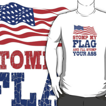 Stomp On This Flag by Albany Retro