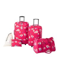 New Directions® 5-Piece Luggage Set - Poppy - Belk.com