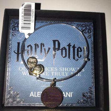Alex and Ani Harry Potter Our Choices Show Us Bangle Two Tone Finish New with Box