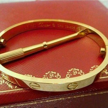 One-nice? Cartier Love bracelet 18k Yellow gold size 17