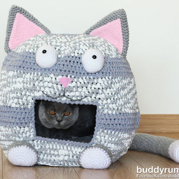 PATTERN: Kitty Kat House Amigurumi Pattern PDF Instant Download