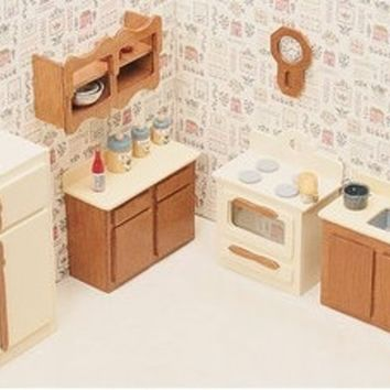 Dollhouse Furniture Kit-Kitchen 2 Sets