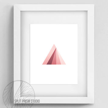 Original Art Print, Instant Download, Print, Art, Digital File, Wall Art, Geometric, Graphic Print, Triangle, Triangle Print, Rainbow, Prism