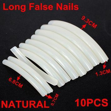 High Quanlity 10pcs 10 Sizes Natural Colors Long False Nails Acrylic Nails UV Gel Acrylic False Nail Art long Tips