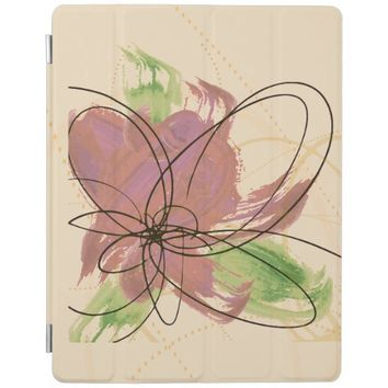 Metallic Brown Painted Daisy iPad 2/3/4 Cover