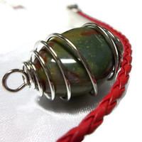 Bloodstone Healing Crystal Reiki Root Chakra Stone For Meditation Intuition and Creativity