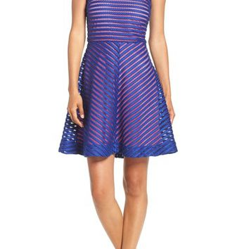 Lilly Pulitzer 'Megyn' Mesh Stripe Fit & Flare Dress | Nordstrom