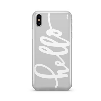 Hello - Clear TPU Case Cover