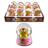 Disney Princess 45mm Glass Snowglobe with printed Base (12 pack)