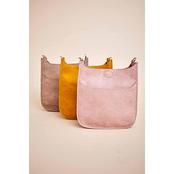 Vegan Messenger Bag (available in Blush, Stone & Mustard)- STRAP NOT INCLUDED