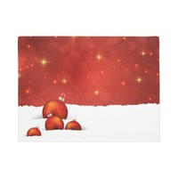 Red Christmas Doormat