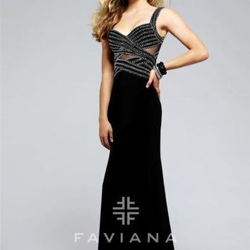 Faviana Sexy Open Back Dress S7806