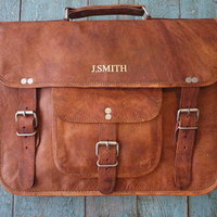 Vintage Style Leather Satchel