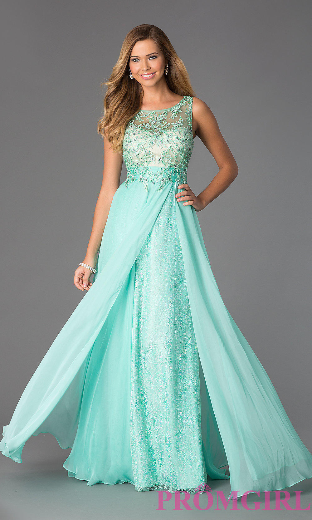 Floor Length Sleeveless Lace Dress By From Promgirl Com Prom