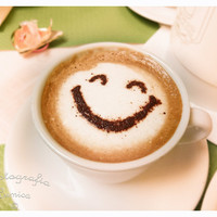 "Rome, Smiley Latte - 8"" x 10"" Print - Europe Travel Photography - Fine Art Photography - Coffee Photo"