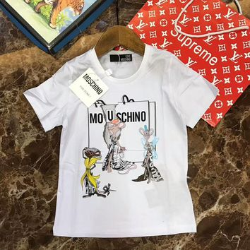 2018 Childrens Cheap  Moschino T Shirt hot sale ※040