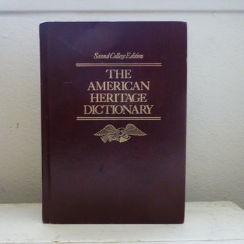 American Heritage Dictionary, Second College Edition, Houghton Mifflin publisher, 1982 edition, college gift, graduation gift, hardcover