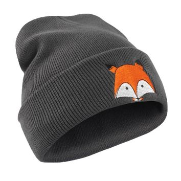 Knitted Beanie Female Skullies Funny Animal Embroidery Pattern Hat Unisex Warm Hat Cap Hats Warm Cap Soft Cap