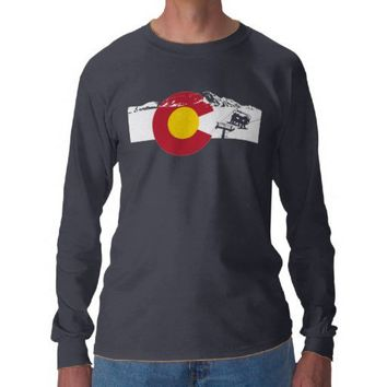 Colorado Flag T-Shirt - Chairlift - Snowboard from Zazzle.com