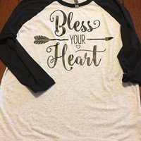 Bless Your Heart Raglan Shirt