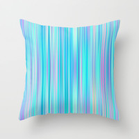Blue Lagoon Throw Pillow by Ornaart