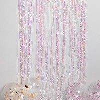 Ginger Ray Iridescent Party Fringe Curtain at asos.com