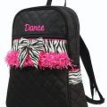 Zebra Quilted Child Backpack