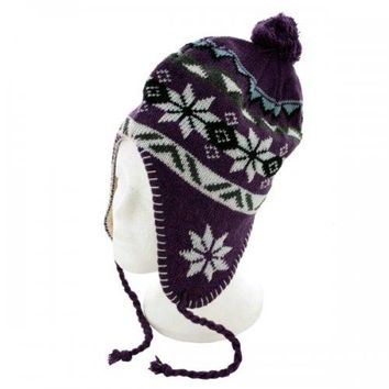 Kids' Fleece Lined Wool Blend Knit Hat