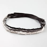 Full Tilt 3 Piece Braid Chain Headbands Black Combo One Size For Women 19791114901