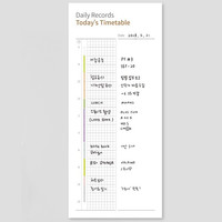 The Memo daily records today's timetable planner notepad