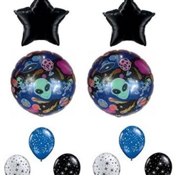 Aliens in Outer Space Birthday Party Balloon Decoration Kit
