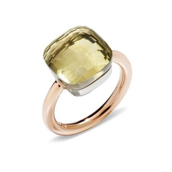 SLJELY Fashion Brand 17 Multicolor Candy Faceted Crystal Square Ring Fashion Women 3 Gold Color Colorful Finger Rings Jewelry