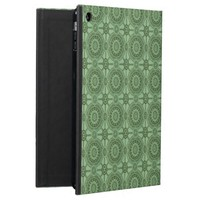 Vintage Geometric Floral Pattern Sage Green Cover For iPad Air