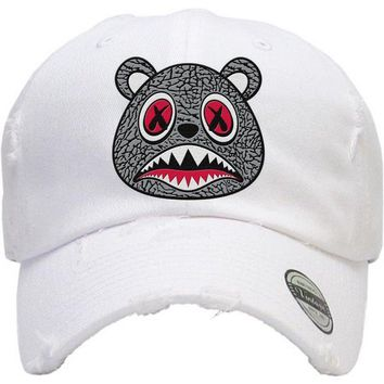 ELEPHANT BAWS White Dad Hat - Jordan 3 Cement