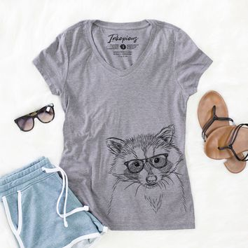 Randy the Raccoon - Women's Relaxed Fit V-neck Shirt