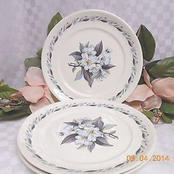Pope Gosser, China Dinnerware Blue Azalea,  Set 3 Dinner plate(s)