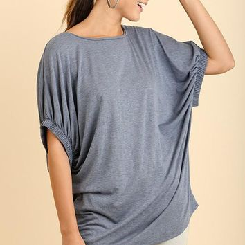 Blue Slouch Top by Umgee